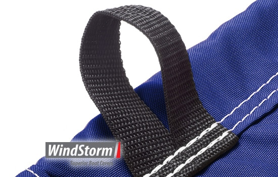 Sewn-in marine grade straps for a secure tie-down