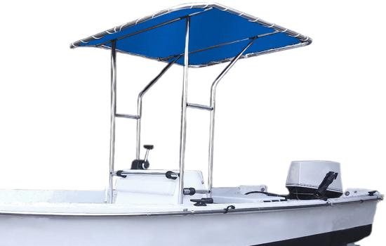 Summerset T-top Bimini Shade shown in Royal Blue.
