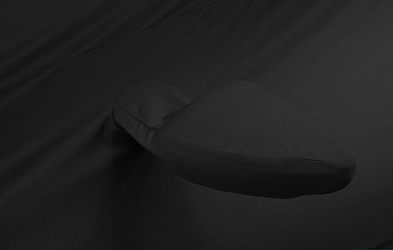 satin stretch black mirror pocket cover