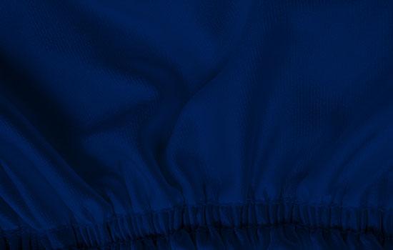 satin stretch impact blue custom truck cover elastic