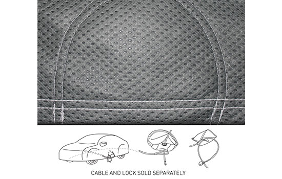 custom car cover triguard grommet grey