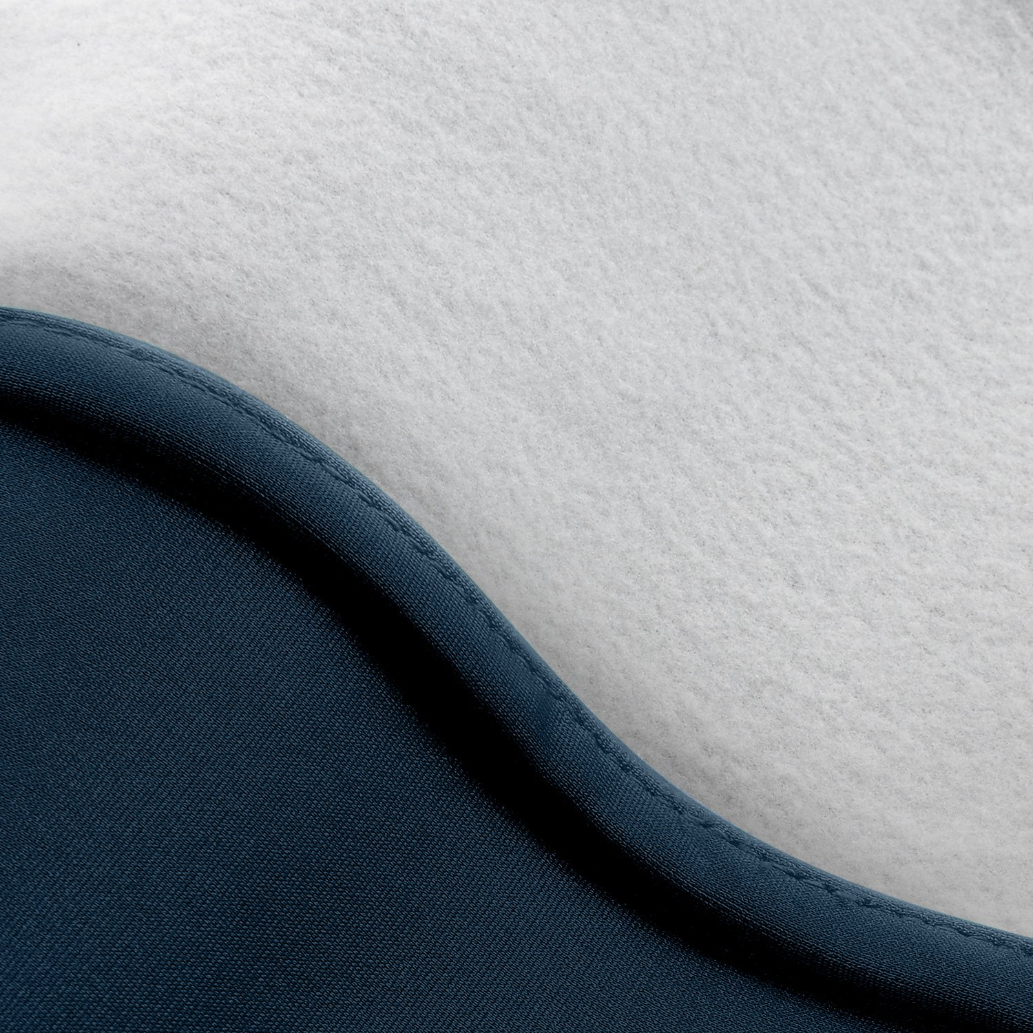 satin stretch navy blue car cover inner layer