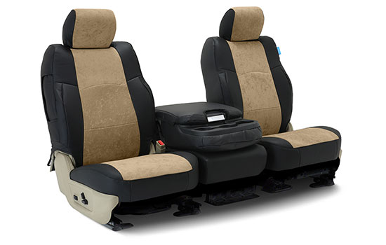 alcantara custom seat covers folded