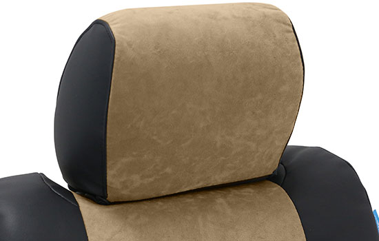 alcantara custom seat covers headrest