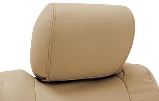 genuine leather custom seat covers headrest