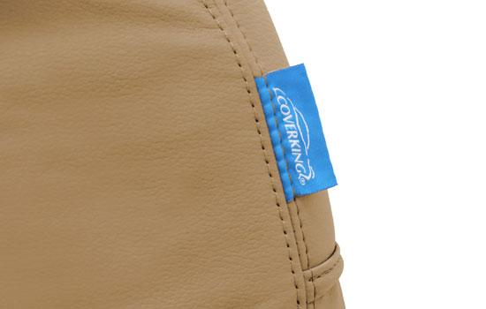 genuine leather custom seat covers tag