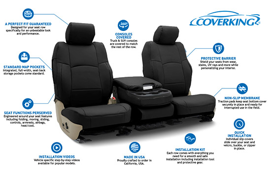 premium leatherette custom seat covers features