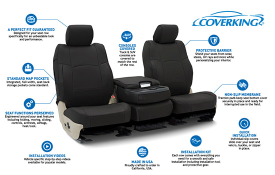 rhinohide custom seat covers features