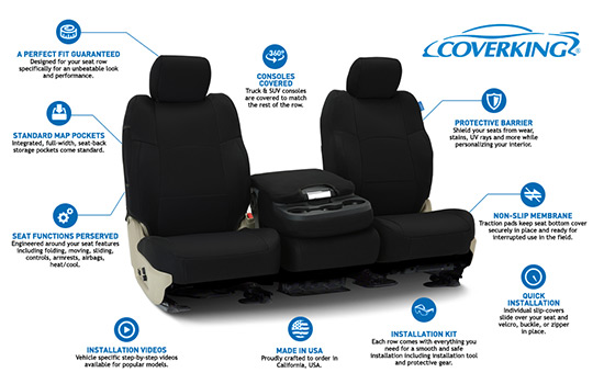 spacer mesh custom seat covers features