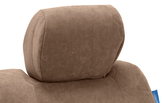 suede custom seat covers headrest