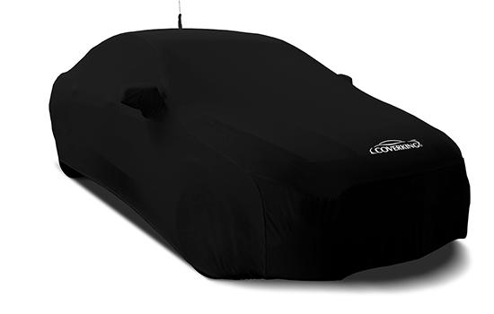 satin stretch black sedan cover