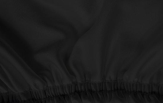 satin stretch black elastic cover