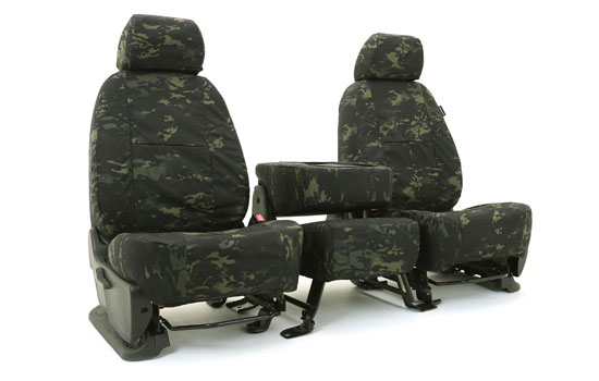multicam custom seat covers folded
