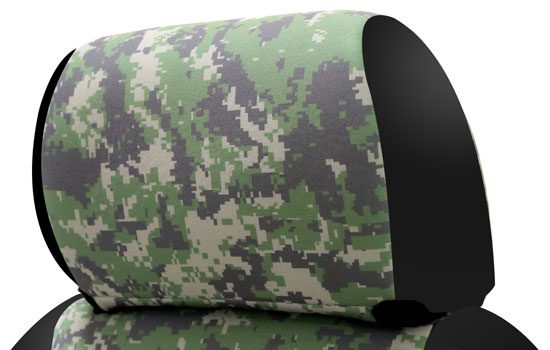 digital camo custom seat covers headrest