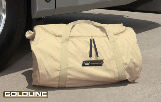 Executive duffle bag is provided for easy carrying and storage.