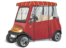 SUNBRELLA 2 PASSENGER Semi-Custom Golf Cart Enclosure