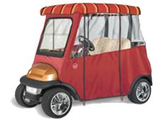 SUNBRELLA 2 PASSENGER Semi-Custom Golf Cart Enclosure