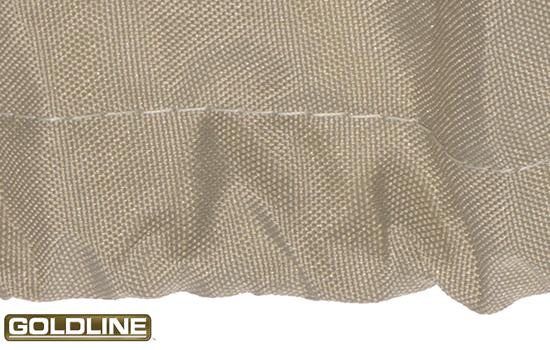 Built in shock cord hem promotes a snug, custom like fit.