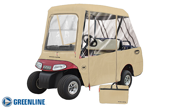 GREENLINE 4 PASSENGER 2 Passenger Roof / 4 Passenger Seating Golf Cart Enclosure