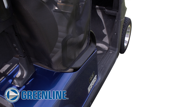Greenline Golf Cart Shade by Eevelle rear corner
