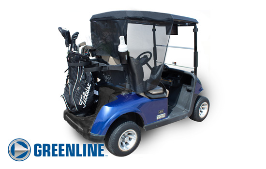Greenline Golf Cart Shade by Eevelle rear