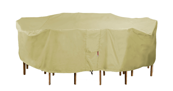 Rectangular Table Set Covers Oval