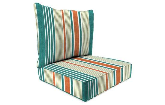2 Piece Deep Seat Chair Cushion, Deep Seat Patio Cushions