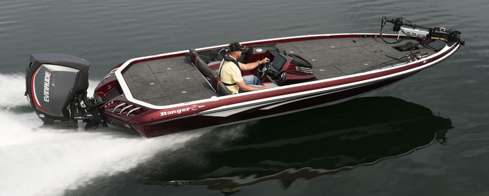 Eevelle Ranger Bass Boat with angled transom