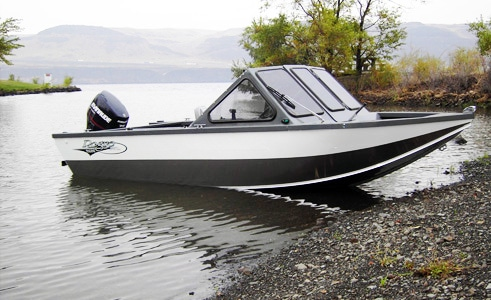 Aluminum Fishing Boat with High Windshield Covers