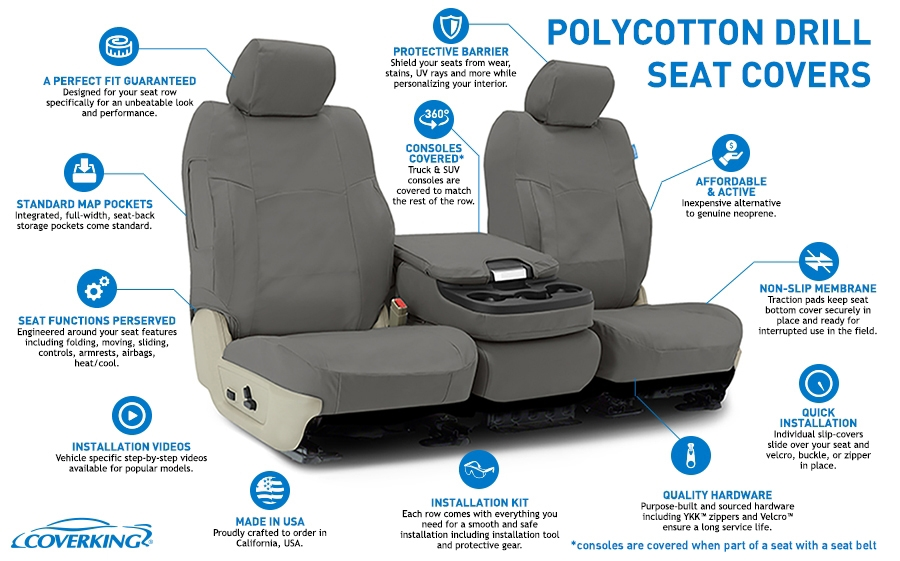 Polycotton Drill Seat Covers